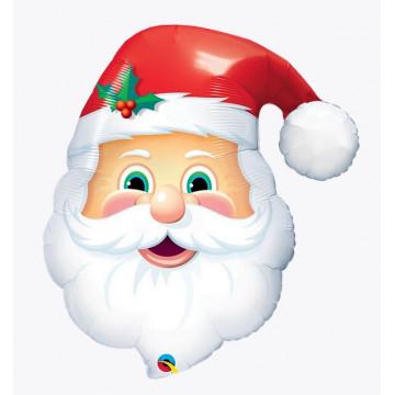 Grand Ballon Tête de Père Noël - Label Fête