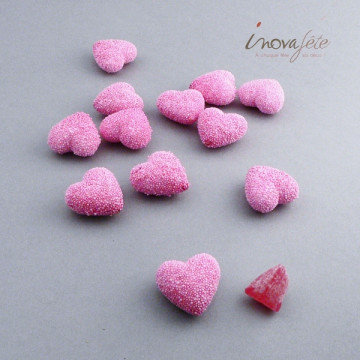 Photophore rose et anse avec perles