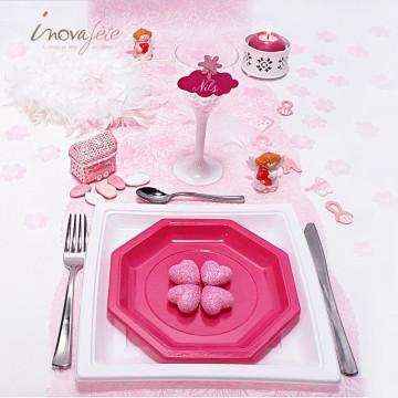 Fleur rose polytulle /240 - Label Fête