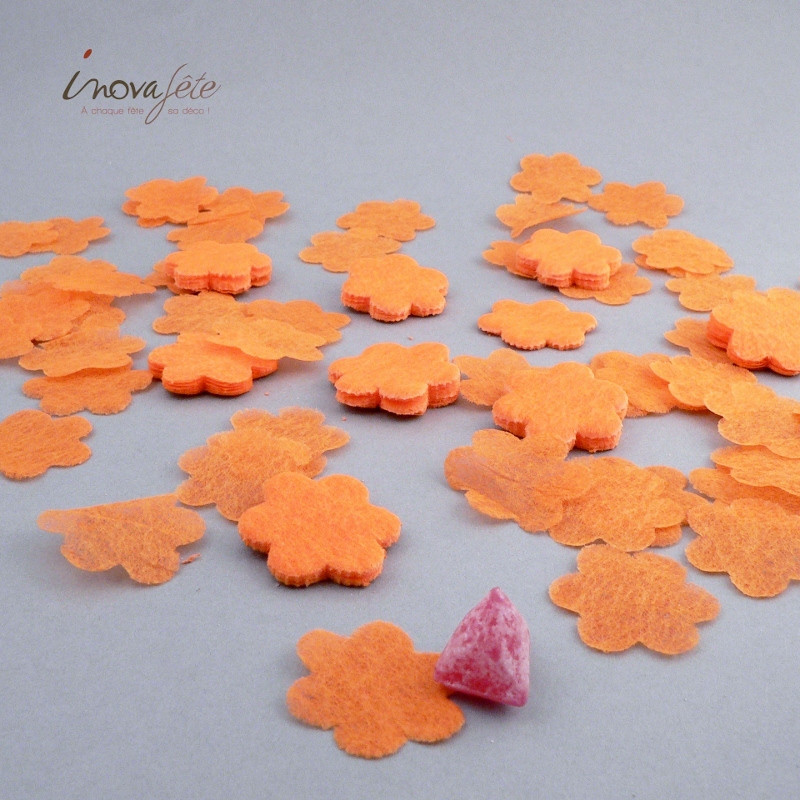Fleur orange polytulle