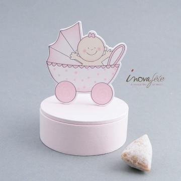Boîte landau bois rose - Label Fête