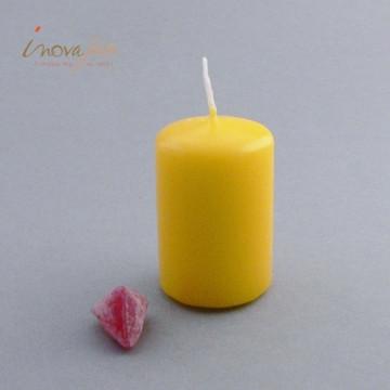 Bougie cylindrique jaune soleil - Label Fête
