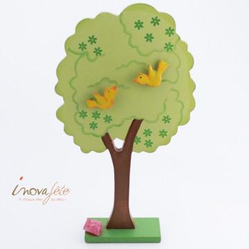 Arbre en bois et ses oiseaux - Label Fête