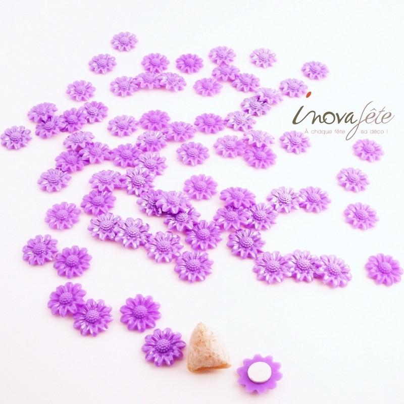 Fleur violette nacrée /68 - Label Fête