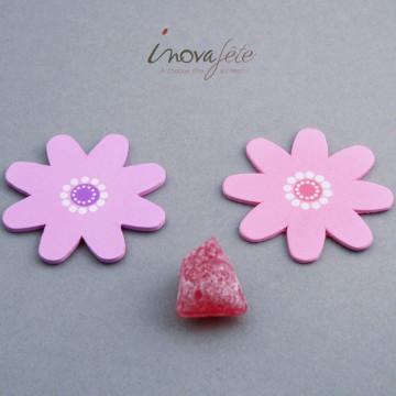 Fleur parme en bois /24 - Label Fête