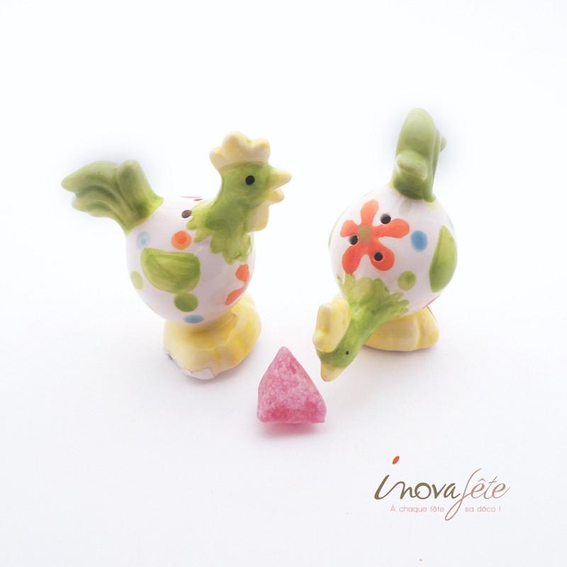 Sel et poivre, le couple coq et poule - Label Fête