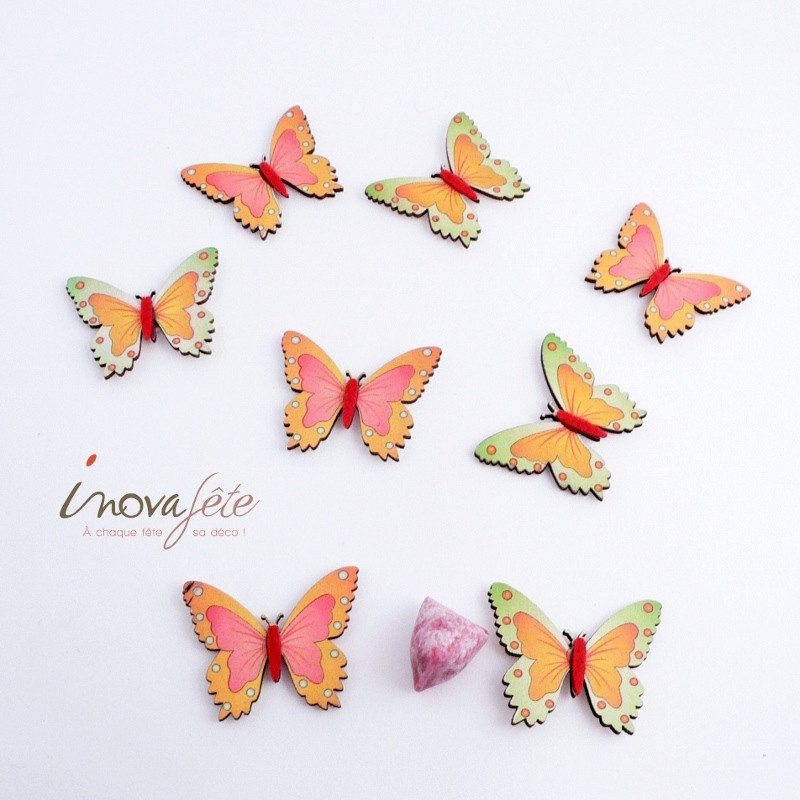 Papillon vert /16 - Label Fête