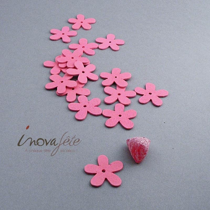 Petite fleur rose en bois /16 - Label Fête