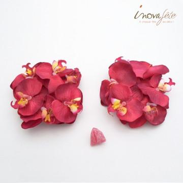 Orchidée bordeaux /12 - Label Fête