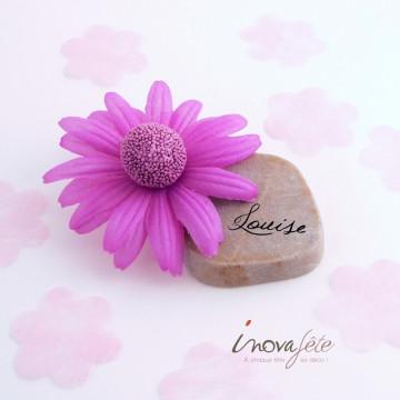 Déco tête de Gerbera violet Label fête