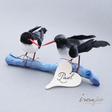 Décor Oiseaux bleu nuit - Label Fête