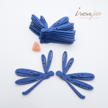 Libellule bleue /12 - Label Fête