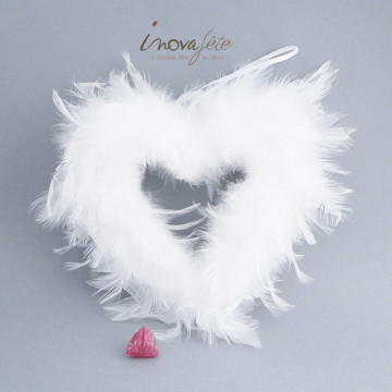 Cœur de plumes blanches - Label Fête