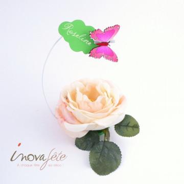 Papillon rose /16 - Label Fête