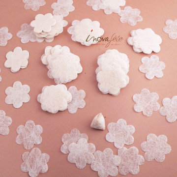 Fleur écru polytulle /240 - Label Fête