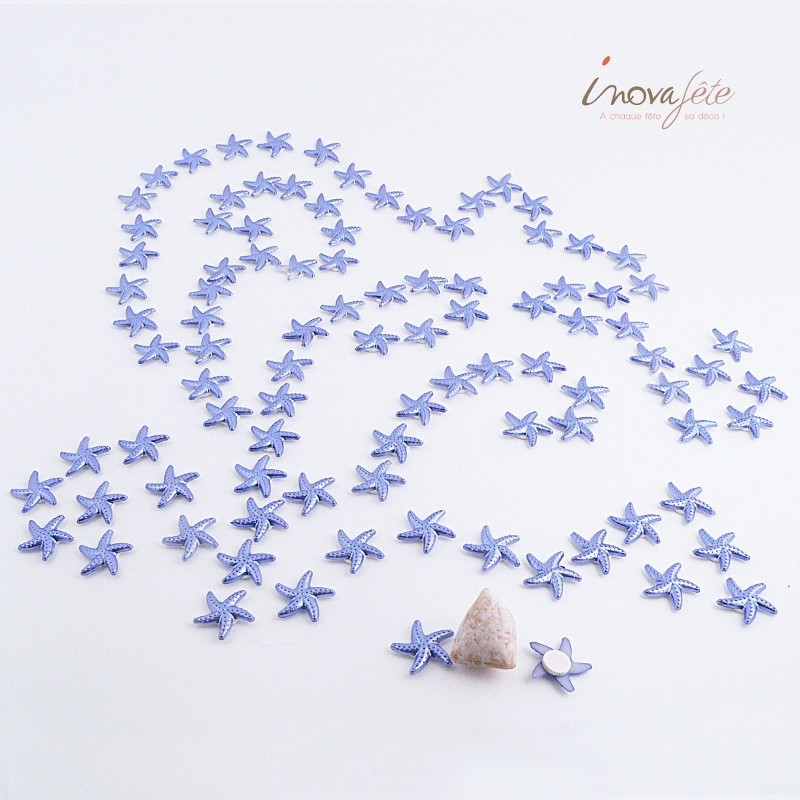 Étoile de mer bleue à coller /92 - Label Fête