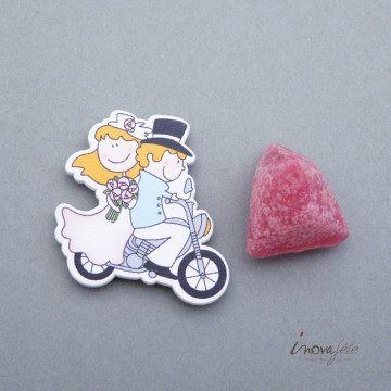 Couple de mariés à moto /22 - Label Fête