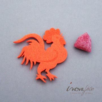 Coq orange /24 - Label Fête