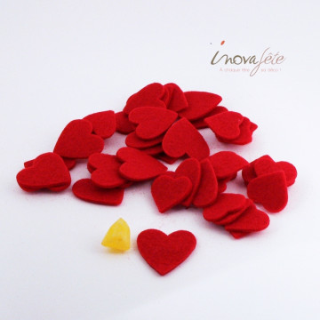 Cœur de feutre rouge /45 - Label Fête
