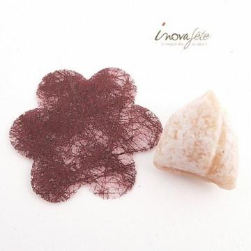 Fleur chocolat polytulle /240
