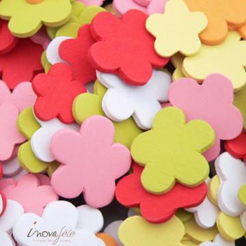 Petite fleur de bois multicolore /140 - Label Fête