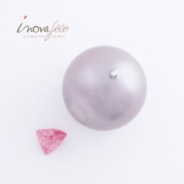 Bougie boule 6cm gris argent - Label Fête