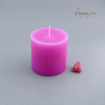 Bougie cylindrique rose fuchsia - Label Fête