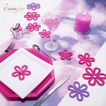 Bougie cylindrique rose fuchsia - Label Fête