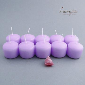 Bougie cylindrique parme /10 - Label Fête