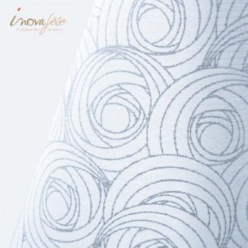 Chemin de table blanc décor argent / 0.30x10m - Label Fête