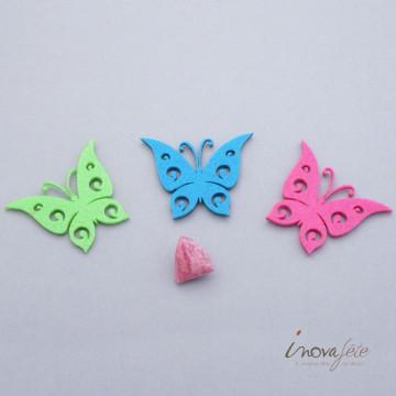 Papillon bleu turquoise découpé /24 - Label Fête