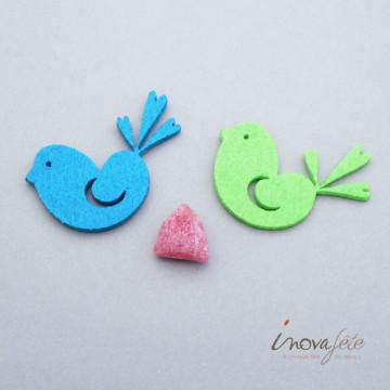Décor oiseau bleu turquoise /24 Label Fête