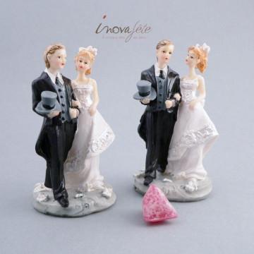 Sujet pour décoration gâteau, couple de mariés - Label Fête