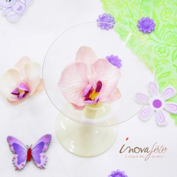 Orchidée pèche /12 - Label Fête