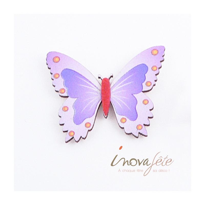 Papillon violet - Label Fête