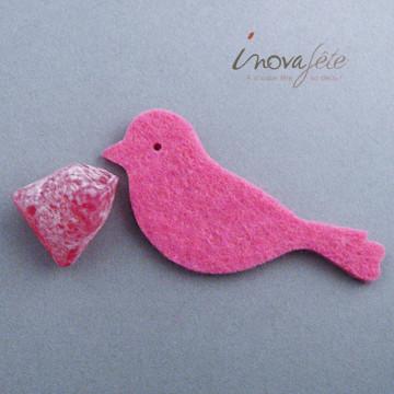 Oiseaux en feutre rose /24 - Label Fête