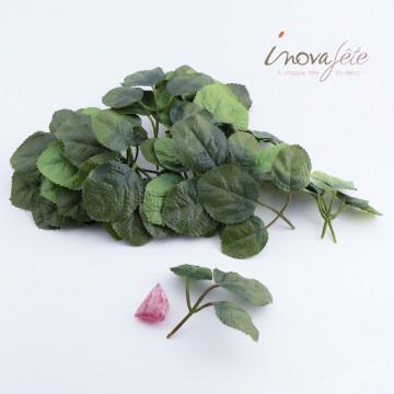 Feuilles de rosier avec tige /18 - Label Fête
