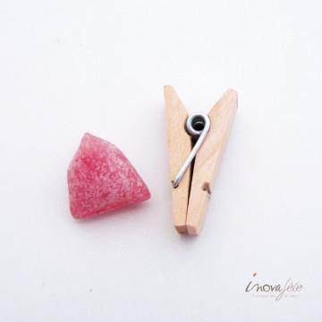 Pince bois naturel /36 Label Fête