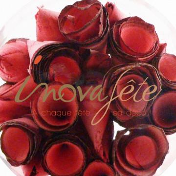 Serviettes papier décor raisin 33x33 cm