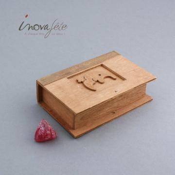 Boîte livre en bois - Label Fête