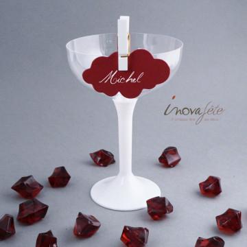 Pierre cristal bordeaux /35 - Label Fête