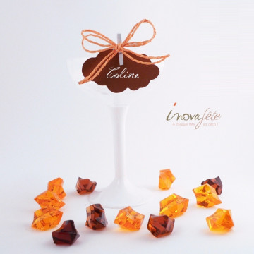 Pierre cristal orange /35 - Label Fête