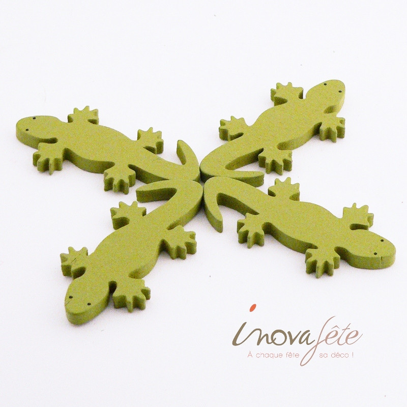 Lézard bois vert /4 - Label Fête