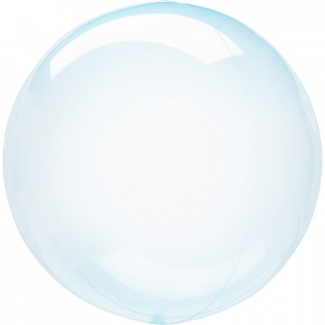 Ballon Bulle bleu transparent Amscan® - Label Fête