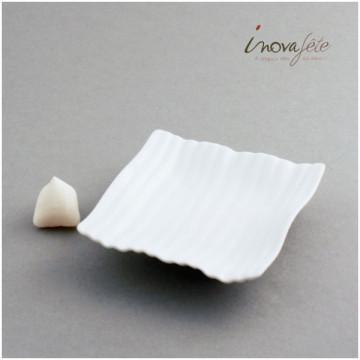 Soucoupe carrée porcelaine blanche