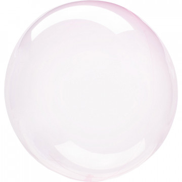 Ballon Bulle rose transparent Amscan® - Label Fête