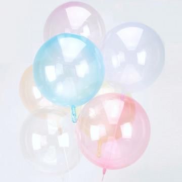 Ballon Bulle bleu transparent Amscan® - Label Fête