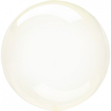 Ballon Bulle jaune transparent Amscan® - Label Fête