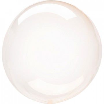 Ballon Bulle orange corail transparent Amscan® - Label Fête