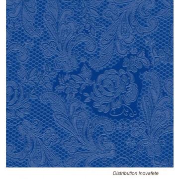 Serviettes papier décor bleu 33x33 cm - Label Fête